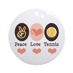 Peace Love Tennis Ornament (Round)