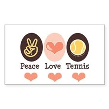 Peace Love Tennis Rectangle Decal