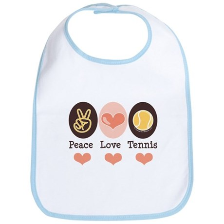 Peace Love Tennis Bib