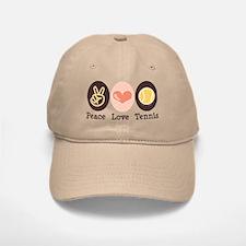 Peace Love Tennis Baseball Baseball Cap