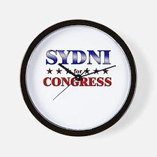 SYDNI for congress Wall Clock
