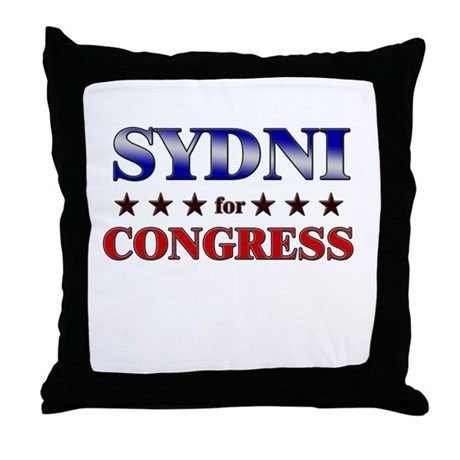 SYDNI for congress Throw Pillow