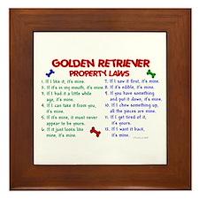 Golden Retriever Property Laws 2 Framed Tile