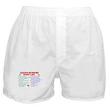 Golden Retriever Property Laws 2 Boxer Shorts