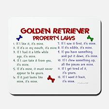 Golden Retriever Property Laws 2 Mousepad