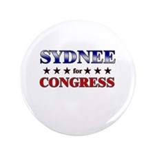 "SYDNEE for congress 3.5"" Button"
