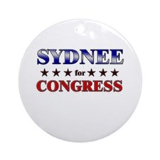 SYDNEE for congress Ornament (Round)