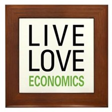 Live Love Economics Framed Tile