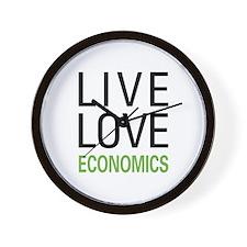 Live Love Economics Wall Clock
