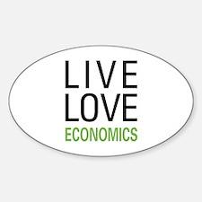 Live Love Economics Sticker (Oval)