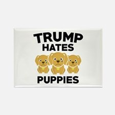 Trump Hates Puppies Rectangle Magnet