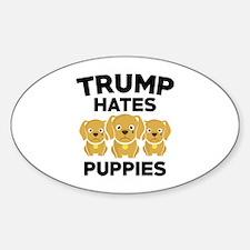 Trump Hates Puppies Decal