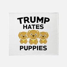 Trump Hates Puppies Stadium Blanket