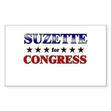 SUZETTE for congress Rectangle Decal