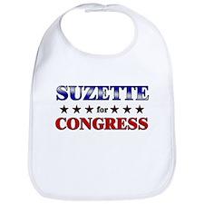 SUZETTE for congress Bib