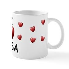 I Love Lisa - Small Mugs