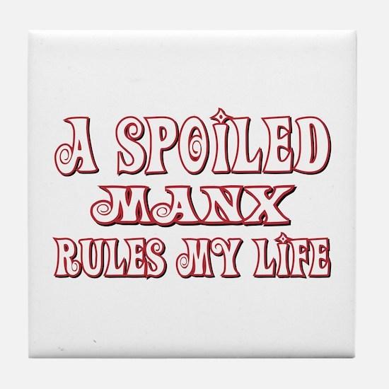 Spoiled Manx Tile Coaster