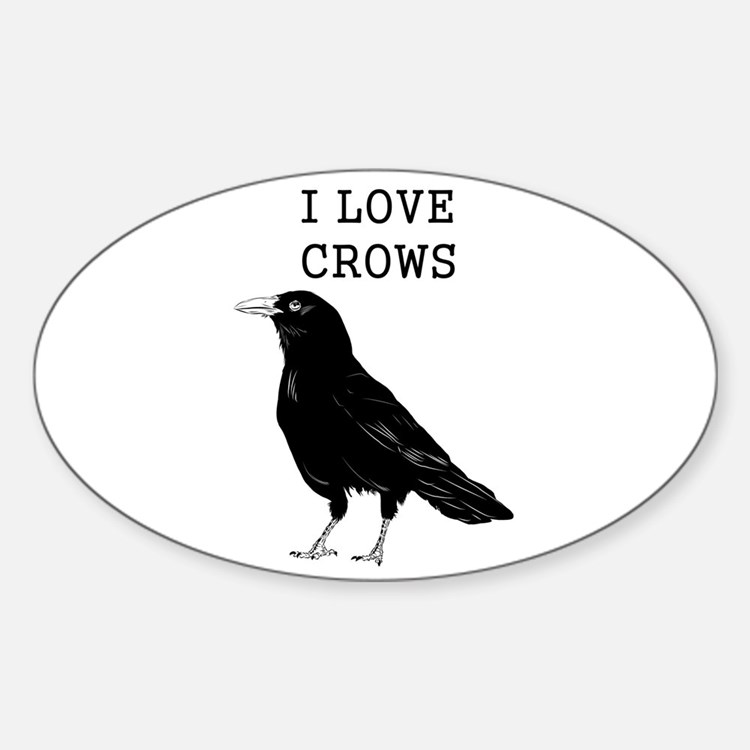 I Love Crows Decal