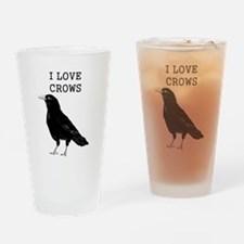 I Love Crows Drinking Glass