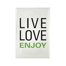Live Love Enjoy Rectangle Magnet