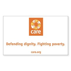 CARE Rectangle Sticker