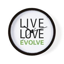 Live Love Evolve Wall Clock