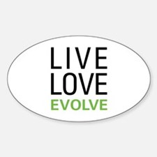 Live Love Evolve Sticker (Oval)