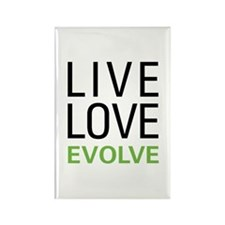 Live Love Evolve Rectangle Magnet