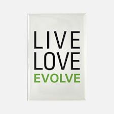Live Love Evolve Rectangle Magnet