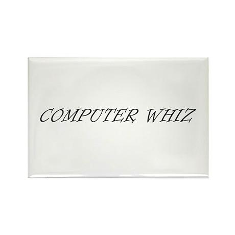 COMPUTER WHIZ Rectangle Magnet