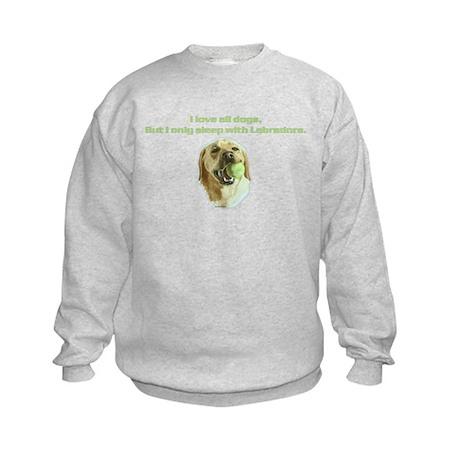 Sleep Yellow Lab Kids Sweatshirt