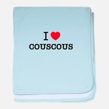 I Love COUSCOUS baby blanket