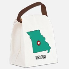 Missouri State Heart Canvas Lunch Bag