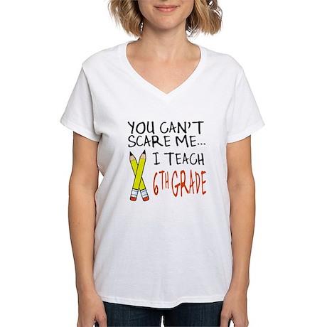 6th Grade Teacher Women's V-Neck T-Shirt