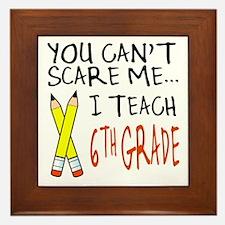 6th Grade Teacher Framed Tile