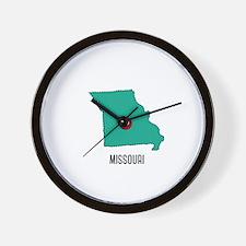 Missouri State Heart Wall Clock