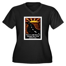 THE ROAD YOU'RE ON.. Women's Plus Size V-Neck Dar