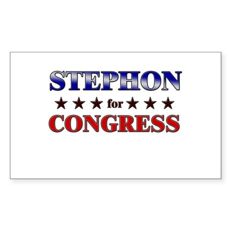 STEPHON for congress Rectangle Sticker