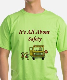 It's All About Safety Ash Grey T-Shirt