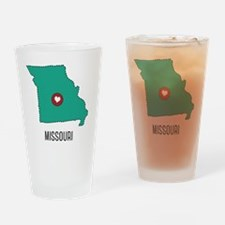Missouri State Heart Drinking Glass