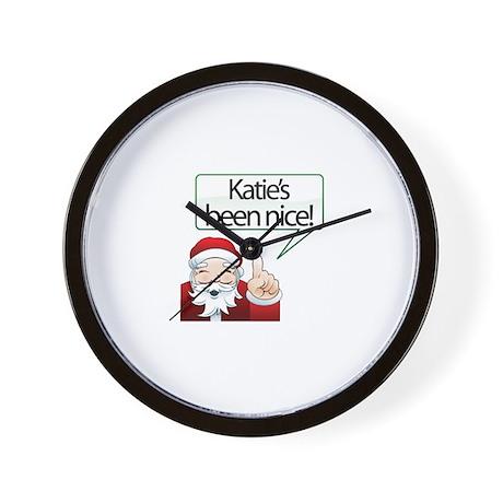 Katie's Been Nice Wall Clock
