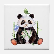 Cute Panda Tile Coaster