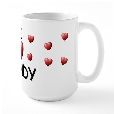 I Love Mandy - Large Mug