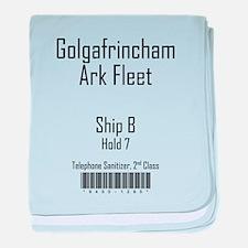 Golgafrincham Ark Fleet baby blanket