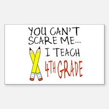 4th Grade Teacher Rectangle Decal