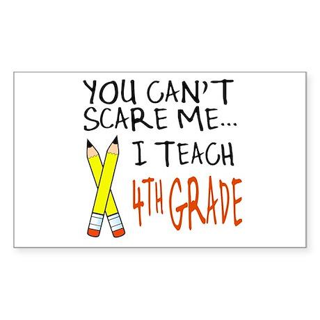 4th Grade Teacher Rectangle Sticker