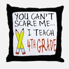 4th Grade Teacher Throw Pillow