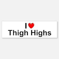 Thigh Highs Bumper Bumper Sticker