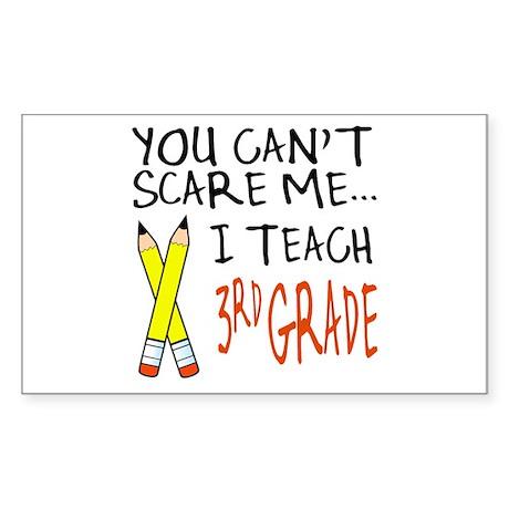 3rd Grade Teacher Rectangle Sticker