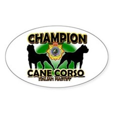 Cane Corso Champ Oval Decal